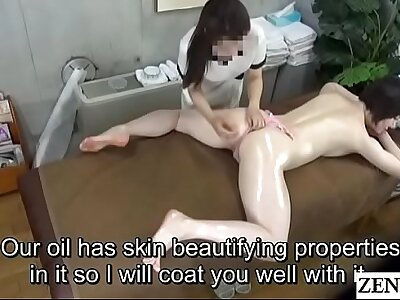 Circumference Japanese milf inclined oil knead down Subtitles