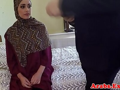 Arab non-professional paid effects to pussy mad about guy
